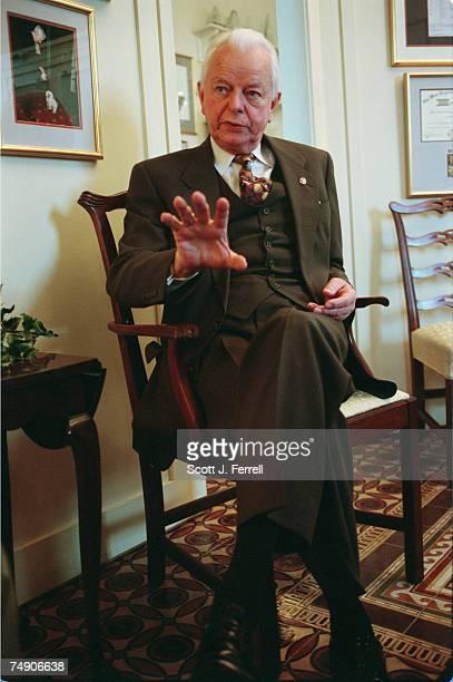 BYRDSen Robert C Byrd DWVa during an interview in his office