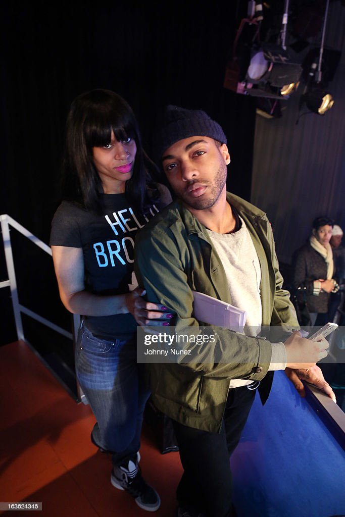 Byron Edwards (r) visits BET's '106 & Park' at BET Studios on March 11, 2013 in New York City.