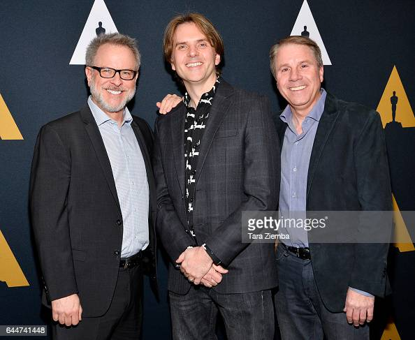 Byron Howard Rich Moore and Clark Spencer nominated for their film 'Zootopia' arrive to the 89th Annual Academy Awards Oscar Week reception for films...