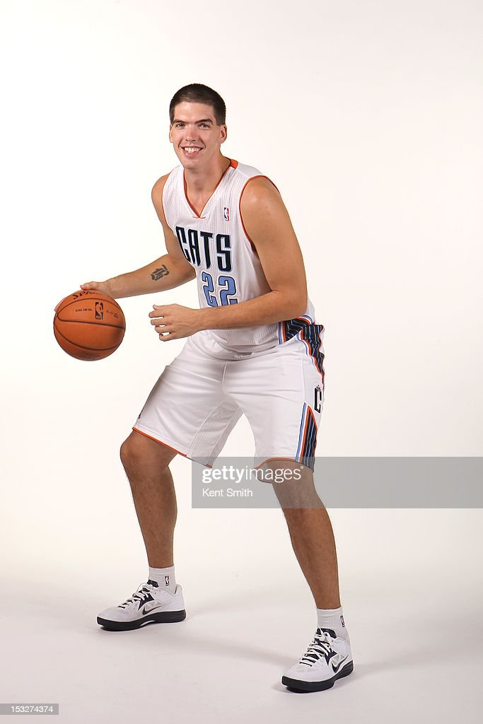 Byron Mullens of the Charlotte Bobcats poses for a portrait during the Media Day on October 1 2012 at the Time Warner Cable Arena in Charlotte North...