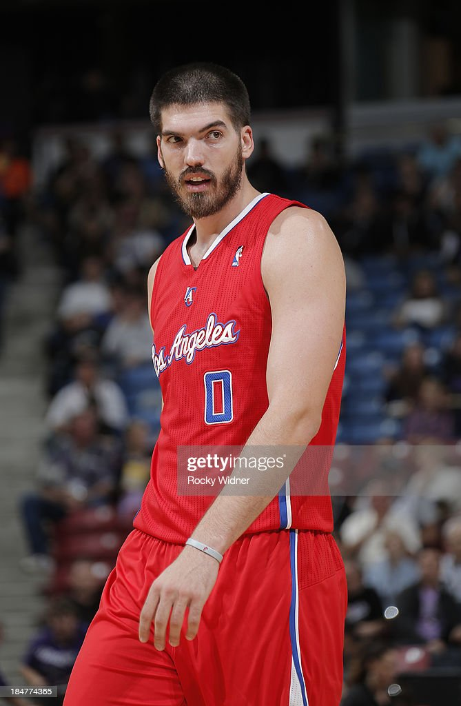Byron Mullens of the Los Angeles Clippers in a game against the Sacramento Kings on October 14 2013 at Sleep Train Arena in Sacramento California...