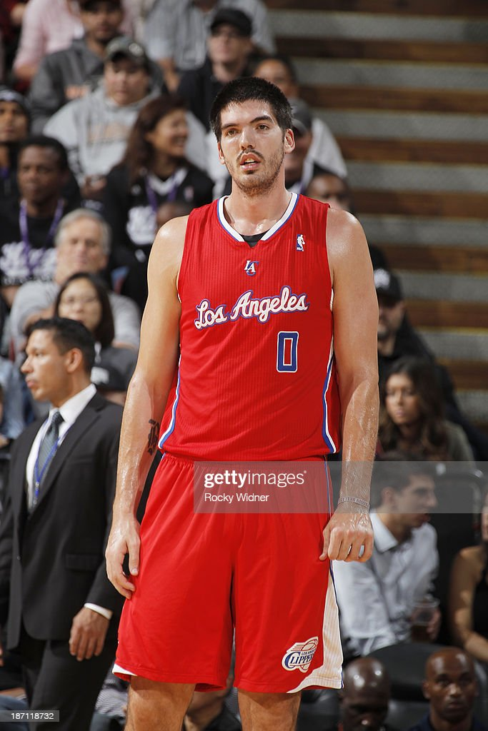 Byron Mullens of the Los Angeles Clippers in a game against the Sacramento Kings on November 1 2013 at Sleep Train Arena in Sacramento California...