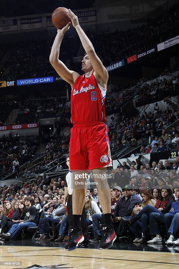 Byron Mullens of the Los Angeles Clippers shoots against the San Antonio Spurs on January 4 2014 at the ATT Center in San Antonio Texas NOTE TO USER...