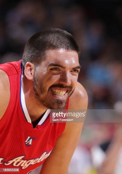 Byron Mullens of the Los Angeles Clippers smiles during the game Portland Trail Blazers on October 7 2013 at the Moda Center Arena in Portland Oregon...