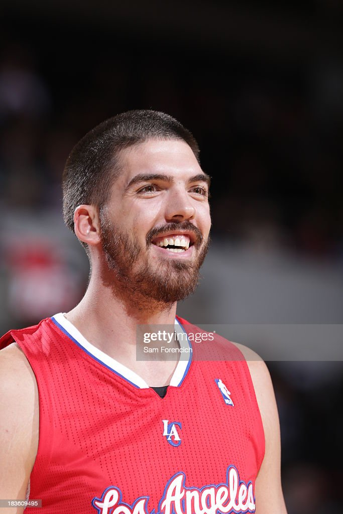 Byron Mullens #0 of the Los Angeles Clippers smiles for the camera against the Portland Trail blazers on October 7, 2013 at the Moda Center Arena in Portland, Oregon.
