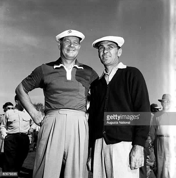 Byron Nelson and Ben Hogan during the 1951 Masters Tournament at Augusta National Golf Club in April 1951 in Augusta Georgia