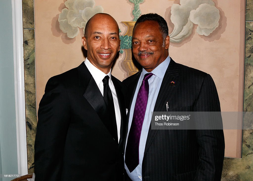 Byron Pitts and Jesse Jackson attend Africa-America Institute 60th Anniversary Awards Gala at New York Hilton on September 25, 2013 in New York City.