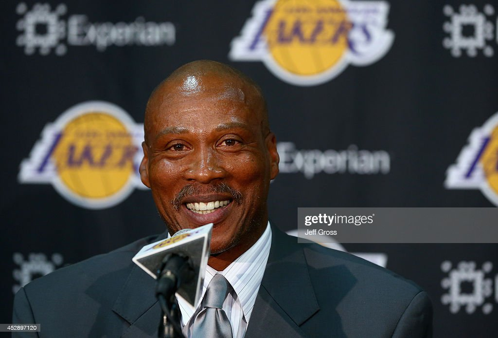 Byron Scott addresses the media after being introduced as the new head coach of the Los Angeles Lakers at Toyota Sports Center on July 29, 2014 in El Segundo, California.