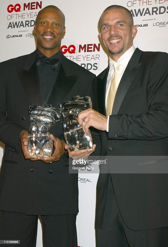 Byron Scott and Jason Kidd during 2002 GQ Men of the Year Awards at Hammerstein Ballroom in New York City, New York, United States.