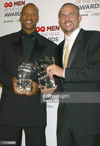 Byron Scott and Jason Kidd during 2002 GQ Men of the Year Awards at Hammerstein Ballroom in New York City New York United States