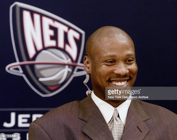 Byron Scott is all smiles after being named coach of the New Jersey Nets at the Champion Center in East Rutherford NJ