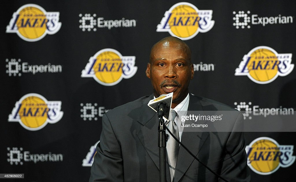 Byron Scott, new head coach of the Los Angeles Lakers, speaks to the media during a press conference on July 29, 2014 at Toyota Sports Center in El Segundo, California.