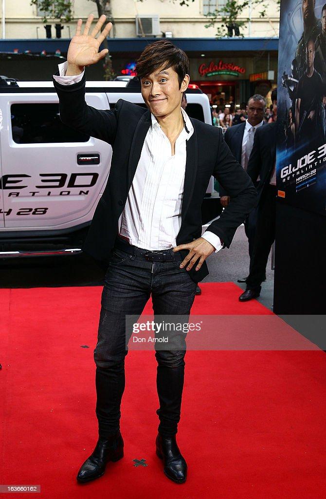Byung-Hun Lee arrives at the 'G.I.Joe: Retaliation' - Australian Premiere at Event Cinemas George Street on March 14, 2013 in Sydney, Australia.