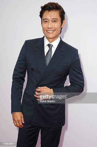 Byunghun Lee arrives at the 'RED 2' Los Angeles Premiere at Westwood Village on July 11 2013 in Los Angeles California