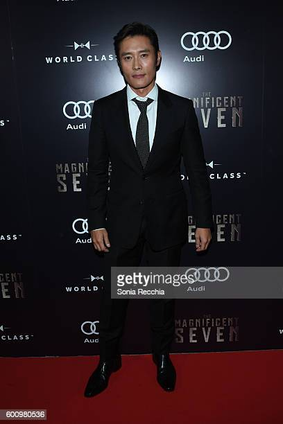 Byunghun Lee attends PostScreening Event For 'The Magnificent Seven' CoHosted By Audi During The Toronto International Film Festival at Storys...