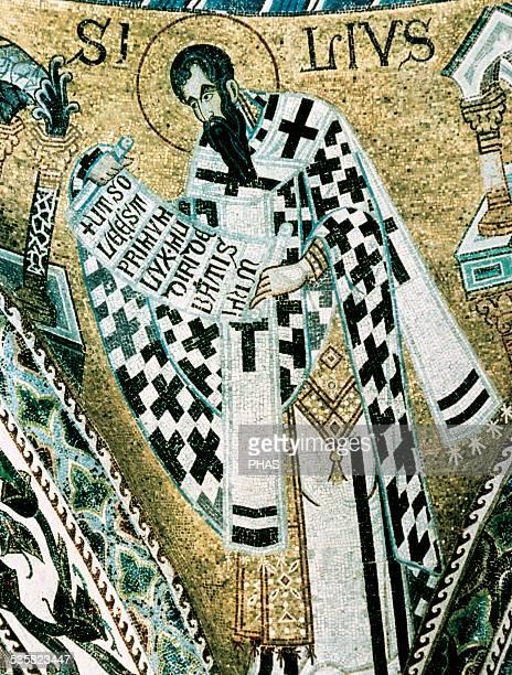 Byzantine Art Basil of Caesarea or Saint Basil the Great Greek bishop of Caesarea Mazaca in Cappadocia 12th century Baptistery of St Mark's Basilica...