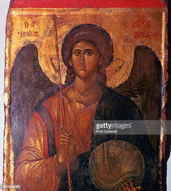 Byzantine icon of the Archangel Michael from the Byzantine Museum's collection in Athens 14th century