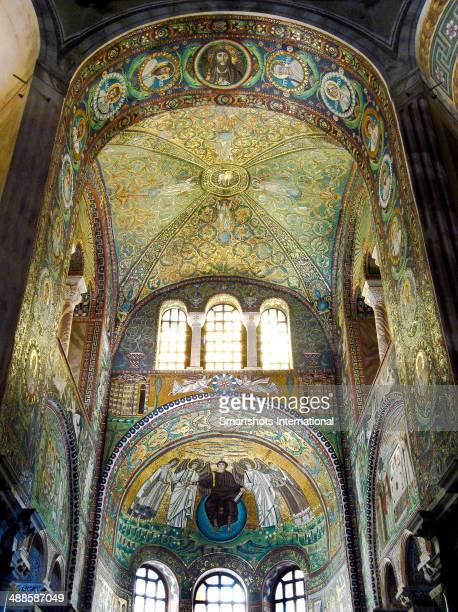 Byzantine mosaics in San Vitale, Ravenna, Italy