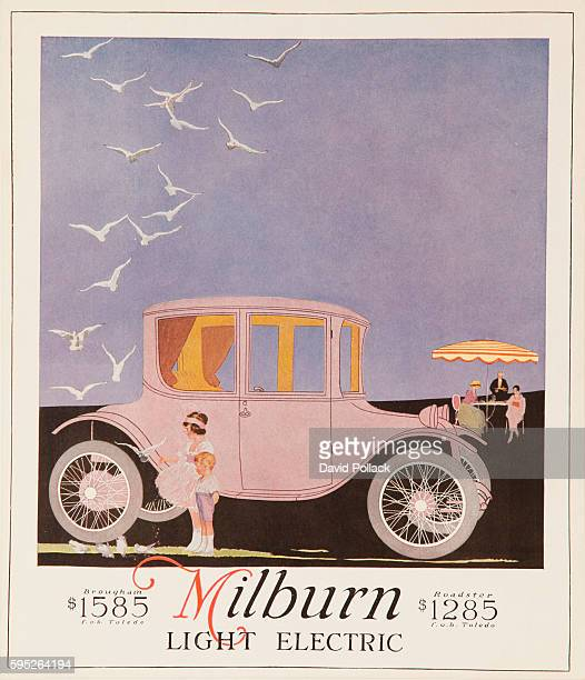 ca 1917 advertisment for Milburn Light Electric Car