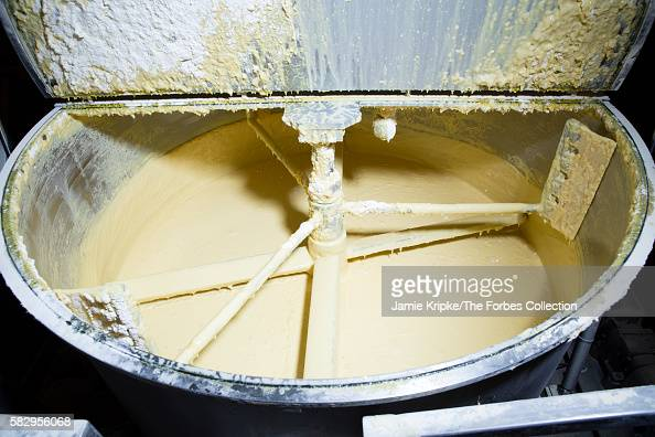 50pound bags of Twinkie mix are stirred into a 2000gallon mixer with water corn syrup and vegetable glycerin