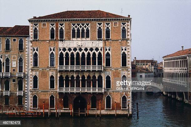 Ca ' Foscari palace 15th century Gothic style seat of Ca ' Foscari University Grand Canal Venice Veneto Italy