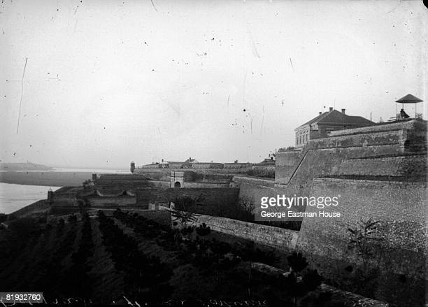 ca1910 A view of the 13th century fortress Kalemegdan located on the edge of Belgrade against the winding Danube River ca Belgrade Serbia