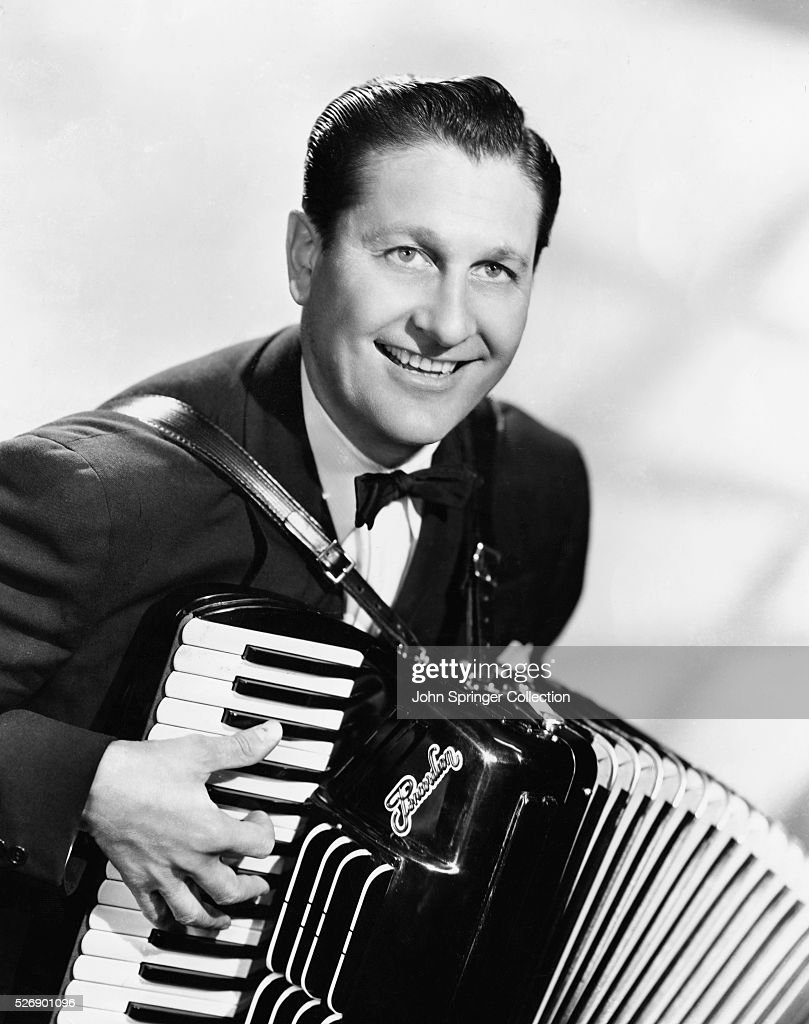 Publicity handout of <a gi-track='captionPersonalityLinkClicked' href=/galleries/search?phrase=Lawrence+Welk&family=editorial&specificpeople=714731 ng-click='$event.stopPropagation()'>Lawrence Welk</a> playing the accordian and smiling.