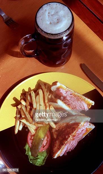 CABierschSandwichRDL Rotisseried ham and cheddar cheese sandwich at Gordon Biersch brewery restaurant in Orange TIMES PHOTO BY ^^^