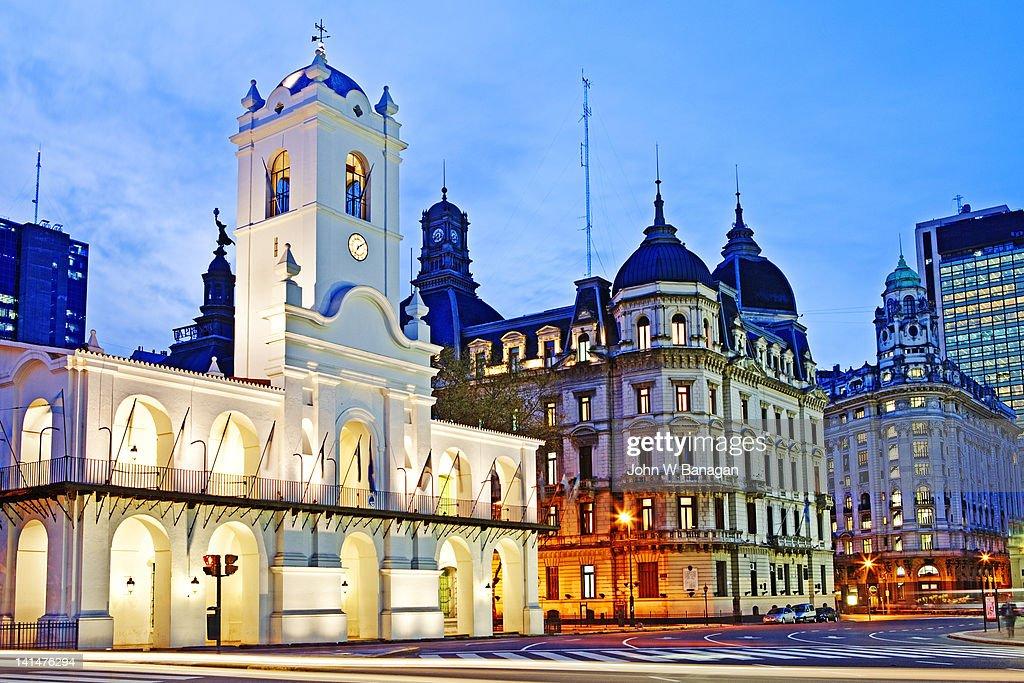 Cabildo de Buenos Aires, Plaza de Mayo : Stock Photo