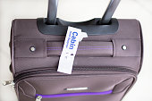 Cabin Hand Baggage On The Floor - Stock Image 0030