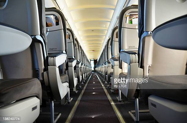 Cabin interior of jet aircraft A320