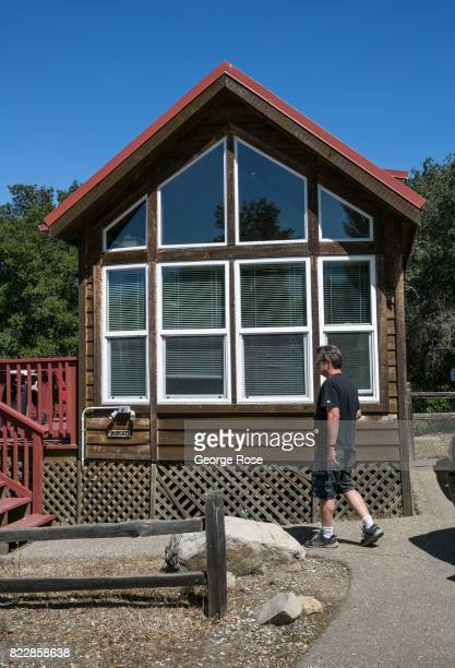 A cabin located near the entrance to Rancho Oso Resort in Santa Barbara County's backcountry is viewed on May 13 near Santa Ynez California Located...