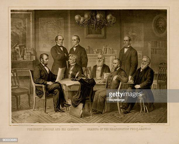 President Lincoln and his cabinet Reading of the emancipation proclamation