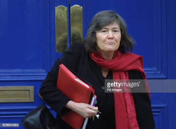Cabinet Minister Clare Short leaves her home in south London to head to her office at the Department for International Development She said at the...