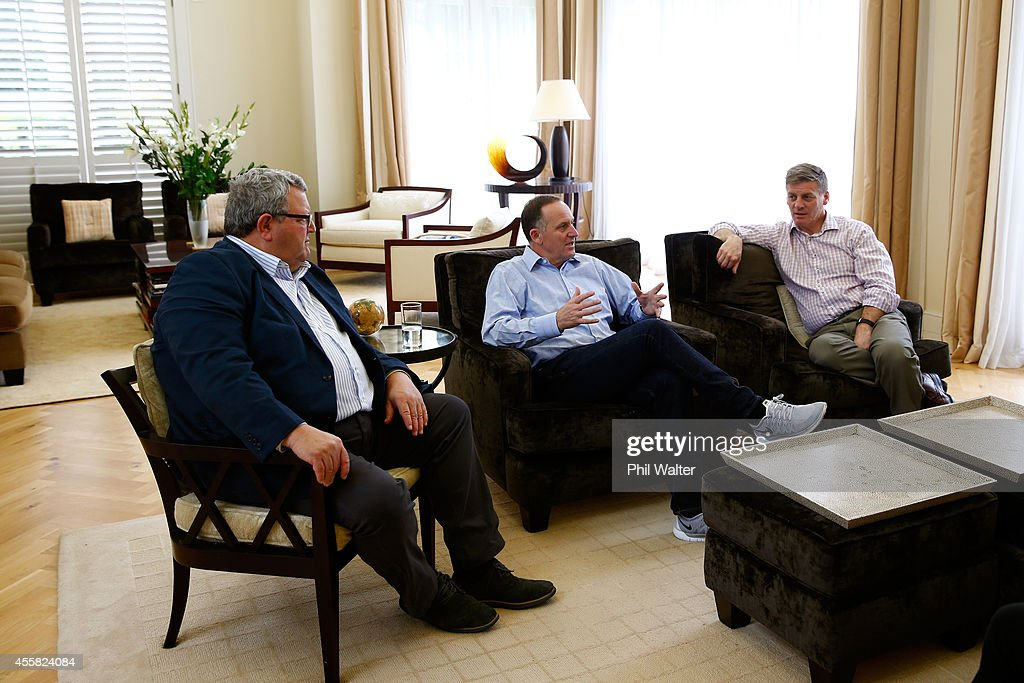 Cabinet Minister Gerry Brownlee Newly elected Prime Minister John Key and Deputy Prime Minister Bill English meet in the living room of the Prime...