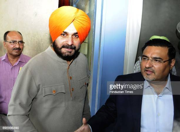 Cabinet minister Navjot Singh Sidhu at Punjab Vidhan Sabha Session on June 14 2017 in Chandigarh India On the first day of the budget session Punjab...