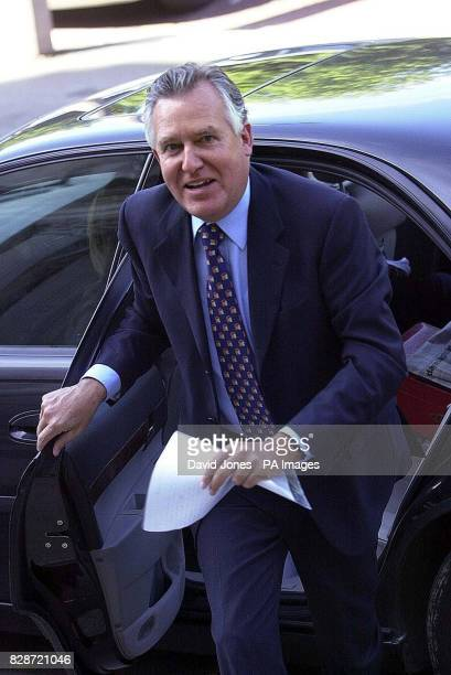 Cabinet minister Peter Hain embroiled in a controversy over tax rises for higher earners arrives in Cardiff to deliver speech Tony Blair publicly...