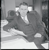 Cabinet Possibility Des Moines Iowa Henry A Wallace editor of Wallace's Farmer a farm journal at his desk in his office at Des Moines Iowa Wallace...