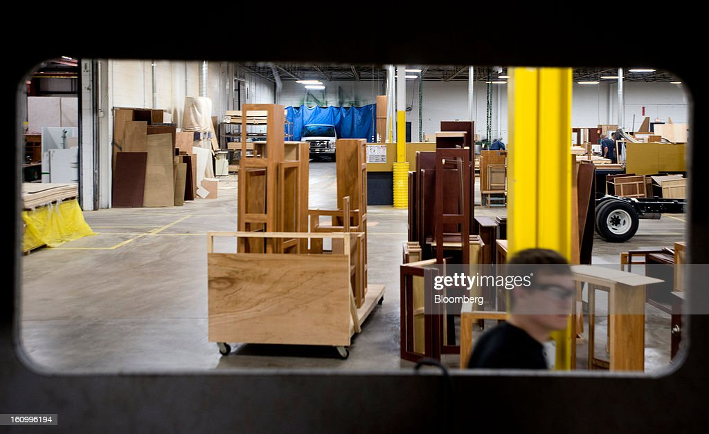 Cabinetry sits on the factory floor waiting to be installed in a Class C motorhome at Nexus RV in Elkhart, Indiana, U.S., on Friday, Feb. 8, 2013. Orders placed with U.S. factories increased less than forecast in December, reflecting a drop in non-durable goods that partly countered gains in construction equipment and computers. Photographer: Ty Wright/Bloomberg via Getty Images