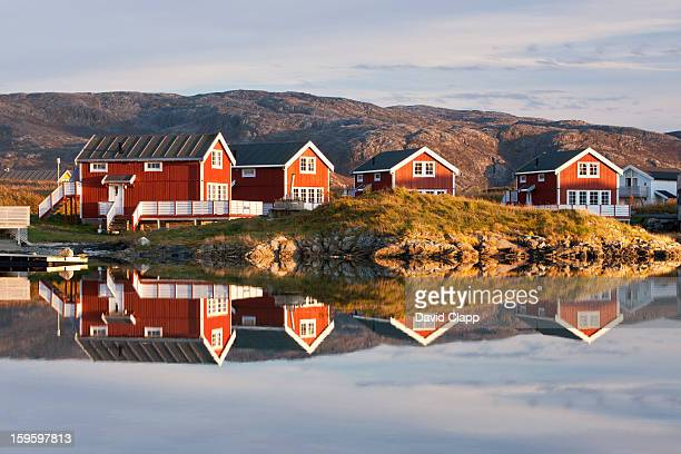 Cabins at Sommaroy, Tromso, Norway