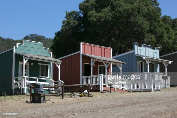 Cabins near the entrance to Rancho Oso Resort in Santa Barbara County's backcountry are viewed on May 13 near Santa Ynez California Located 45...