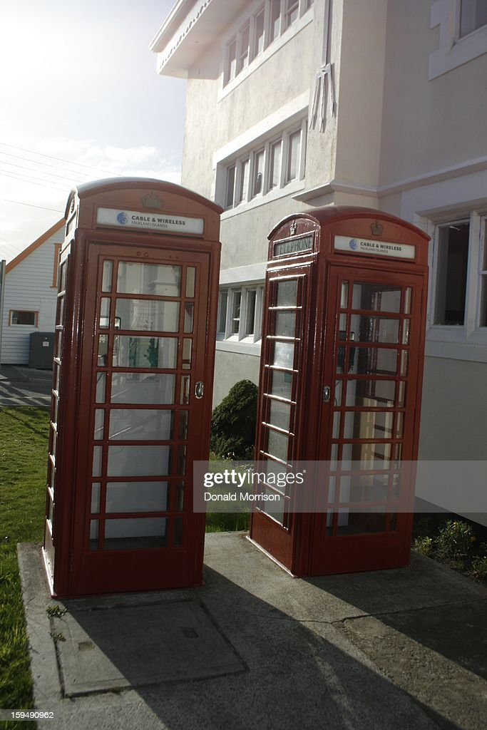 CONTENT] Cable and Wireless telephone Kiosks outside the Post Office, Stanley, Falkland Islands
