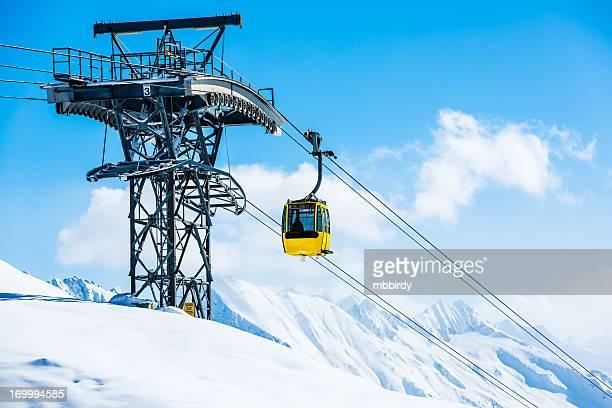 Straßenbahn in ski resort