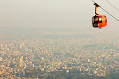 Cable car high above Tehran