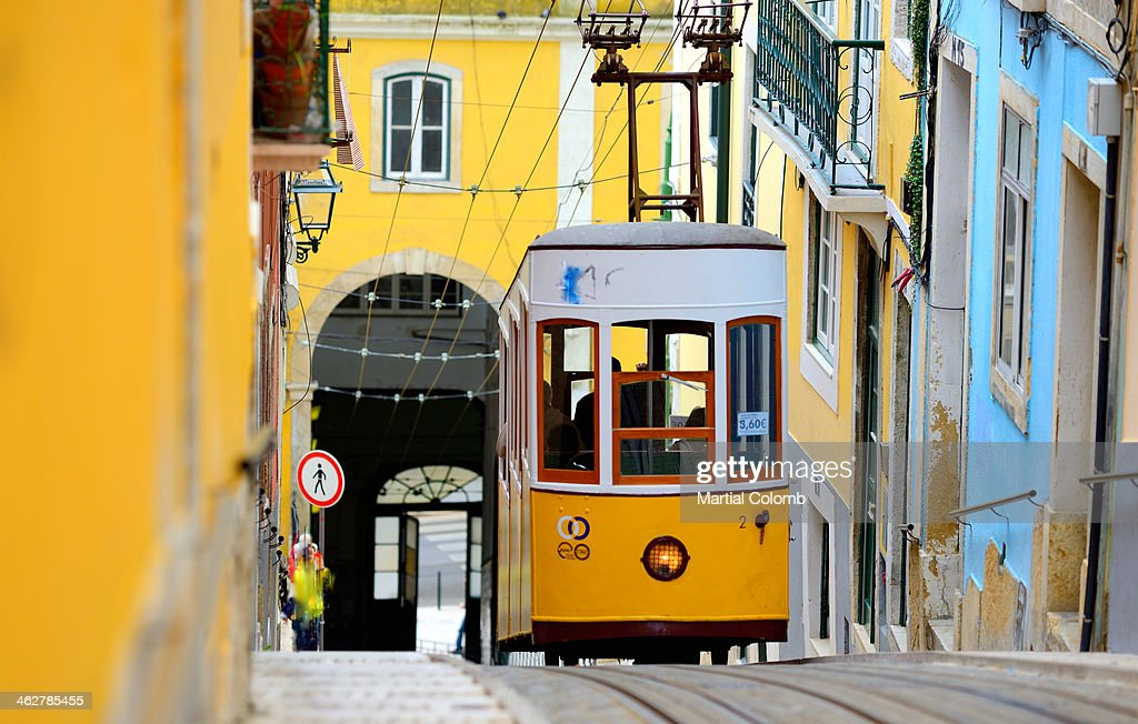 Cable car in Lisbon