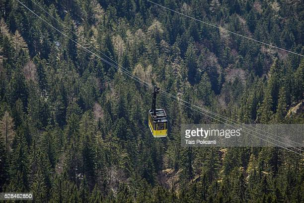 Cable car in Wendelstein Mountain in Bayrischzell, Bavaria, Germany