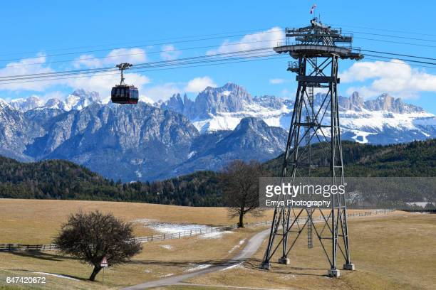 Cable car of Renon - Ritten, South Tyrol, Italy