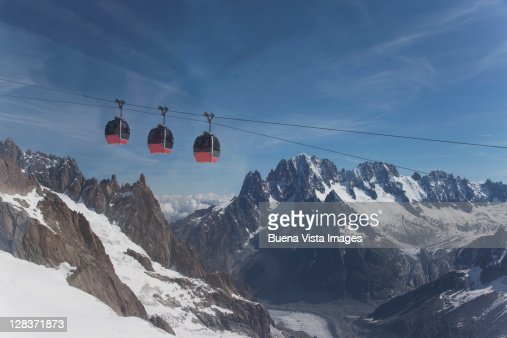 Cable car on the Mont Blanc