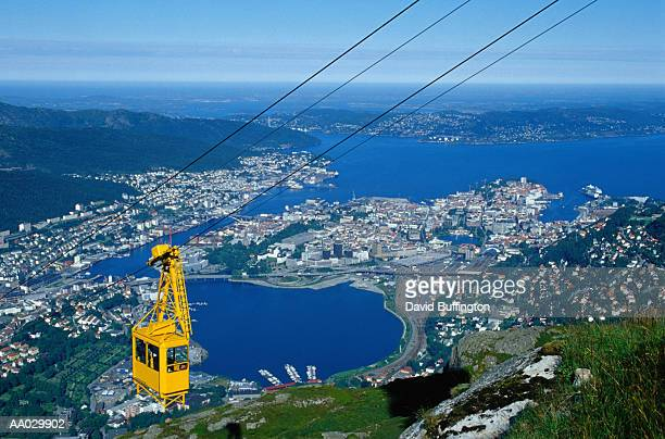 Cable Car Over Bergen, Norway