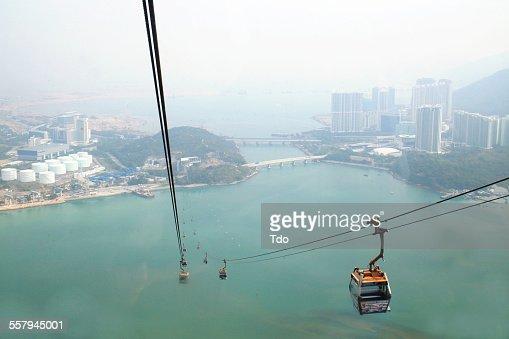 Cable Car To Lantau Island,Hong Kong.